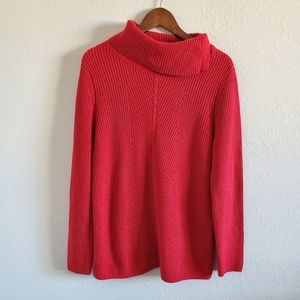 Talbots Red Turtleneck Sweater- Large